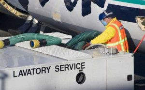 Airline waste removal service