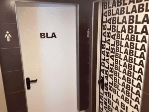 Creative men and women's restroom signs