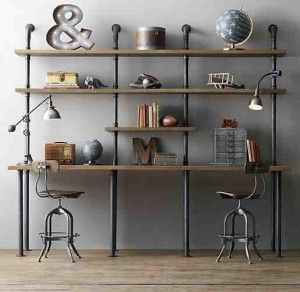 Shelving made from pipes