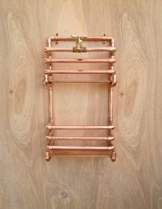 Magazine rack made from pipes